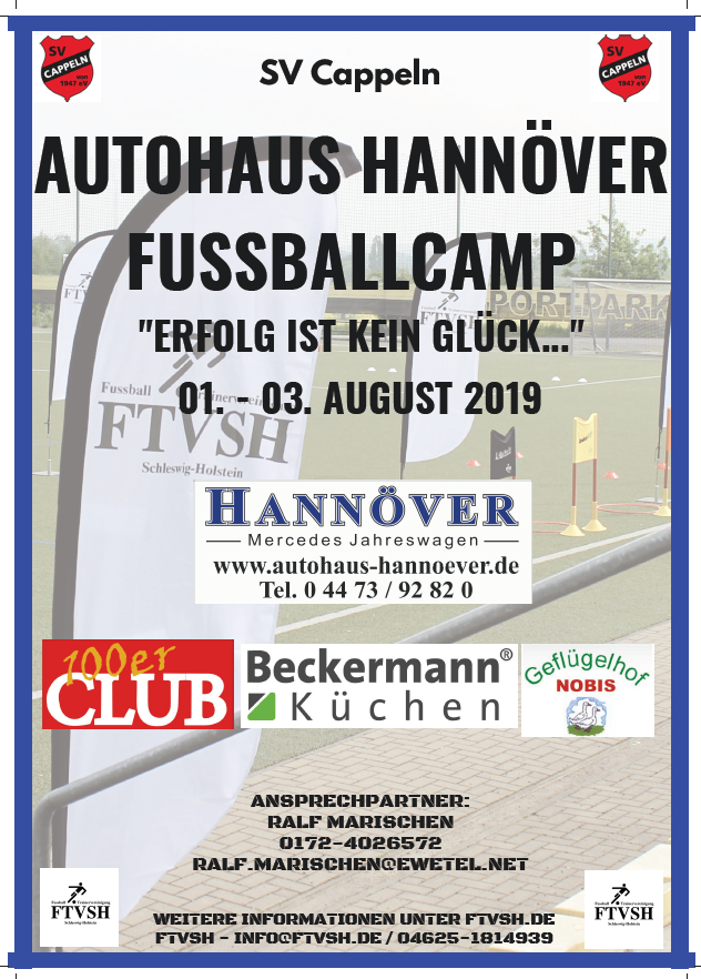 Fussball Camp 2018 Plakat